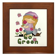 Go Green Garden Framed Tile