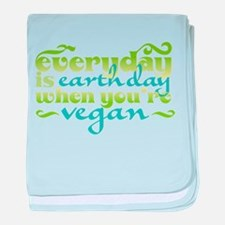 Vegan Earth Day baby blanket