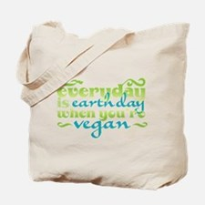 Vegan Earth Day Tote Bag