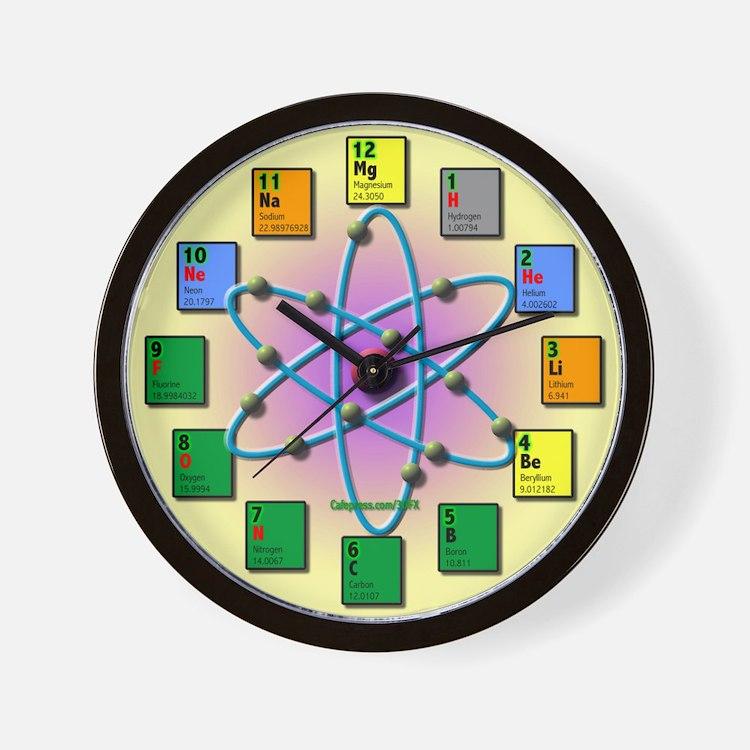 Periodic Table Clocks Periodic Table Wall Clocks Large