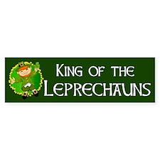 King of the Leprechauns Irish Bumper Sticker