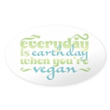 Vegan Earth Day Decal