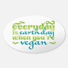 Vegan Earth Day Decal
