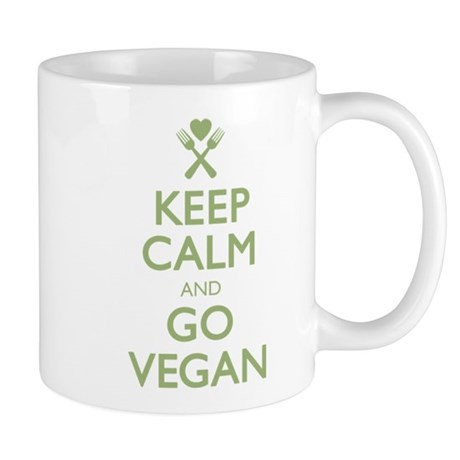 Keep Calm Go Vegan Mug