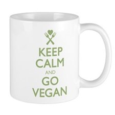 Keep Calm Go Vegan Mug