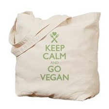 Keep Calm Go Vegan Tote Bag