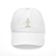 Keep Calm Go Vegan Baseball Baseball Cap