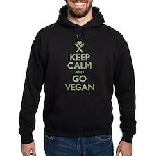 Keep Calm Go Vegan Hoodie