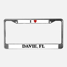 I Love Davie License Plate Frame