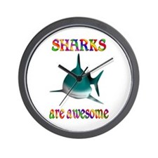 Awesome Sharks Wall Clock
