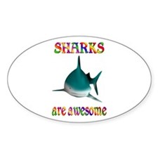 Awesome Sharks Decal