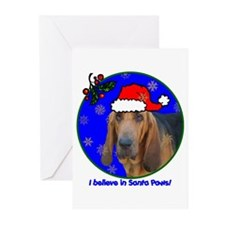 SANTA PAWS Bloodhound Greeting Cards (Pk of 20)