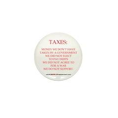 TAXES Mini Button