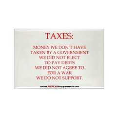 TAXES Rectangle Magnet