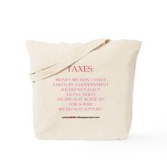TAXES Tote Bag