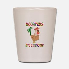 Awesome Roosters Shot Glass