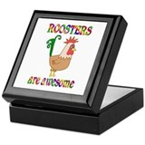 Roosters Square Keepsake Boxes