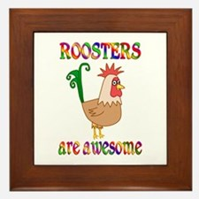 Awesome Roosters Framed Tile