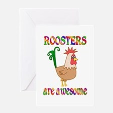 Awesome Roosters Greeting Card