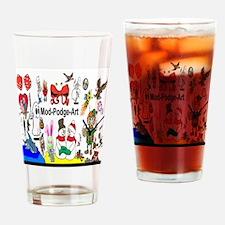 Mod Podge Art Drinking Glass
