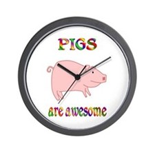 Awesome Pigs Wall Clock