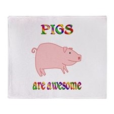 Awesome Pigs Throw Blanket