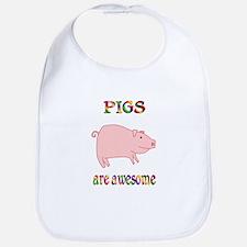 Awesome Pigs Bib