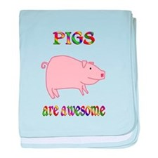 Awesome Pigs baby blanket