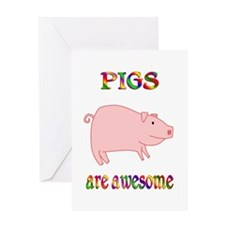 Awesome Pigs Greeting Card