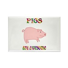 Awesome Pigs Rectangle Magnet