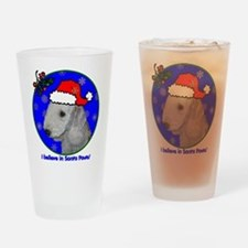 SANTA PAWS Bedlington Drinking Glass