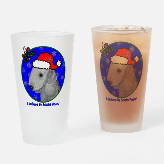 SANTA PAWS Bedlington Drinking Glass