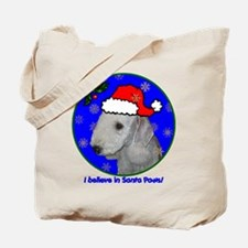 SANTA PAWS Bedlington Tote Bag