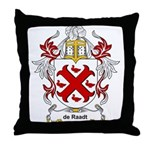 de Raadt Coat of Arms Throw Pillow