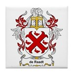 de Raadt Coat of Arms Tile Coaster