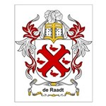 de Raadt Coat of Arms Small Poster