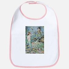 Little Mermaid Illustration Bib