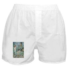 Little Mermaid Illustration Boxer Shorts