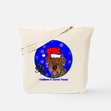 SANTA PAWS Airedale Tote Bag