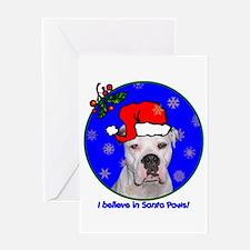 SANTA PAWS Am Bulldog Greeting Card