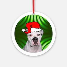 SANTA PAWS Am Bulldog Ornament (Round)