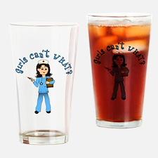 Nurse in Blue Scrubs (Light) Drinking Glass