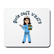 Nurse in Blue Scrubs (Light) Mousepad