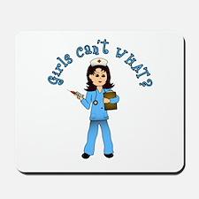 Nurse in Blue Scrubs (Light) Mousepad