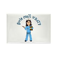 Nurse in Blue Scrubs (Light) Rectangle Magnet