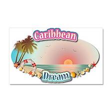 Caribbean Dream Car Magnet 20 x 12