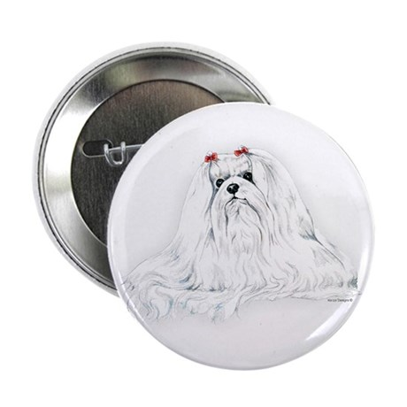 Maltese Portrait Button
