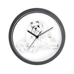 Maltese Portrait Wall Clock