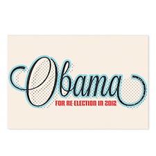 Obama 2012 Halftone Postcards (Package of 8)