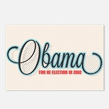 Obama 2012 Halftone Postcards (Package of 8)